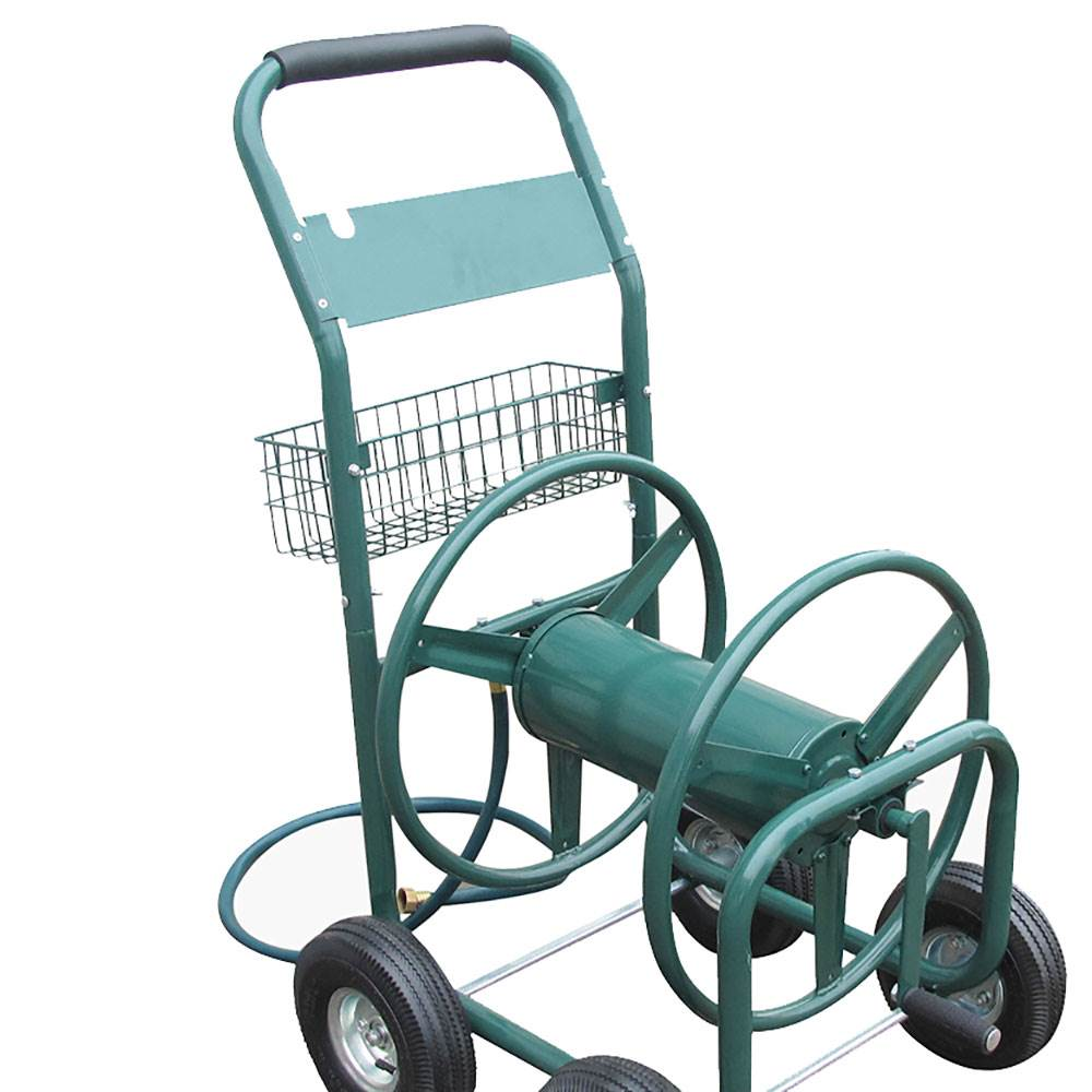 Liberty Garden Products 4 Wheel Hose Reel Cart Holds up to ...