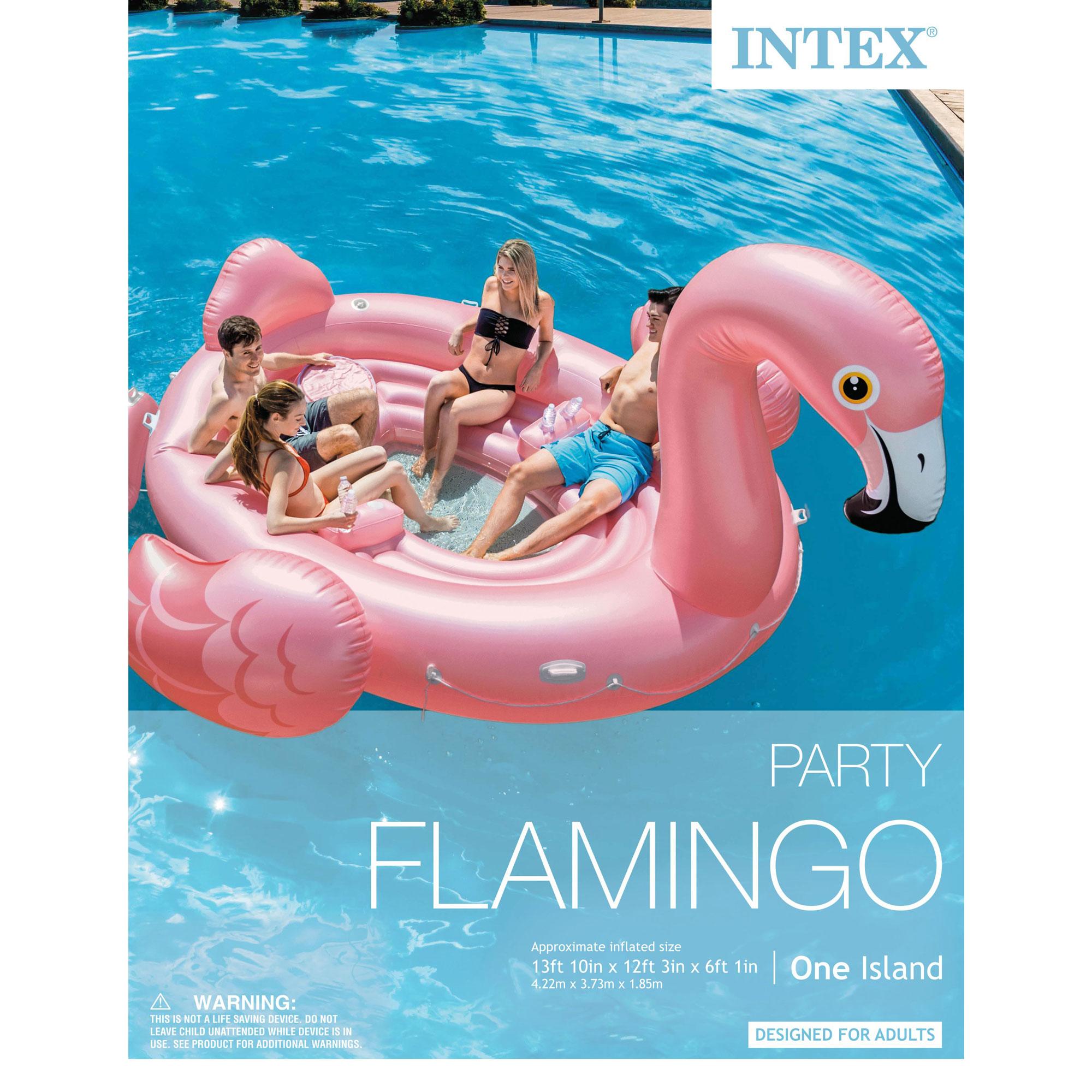 Intex Flamingo Party Inflatable Flamingo Ride On Swimming ...