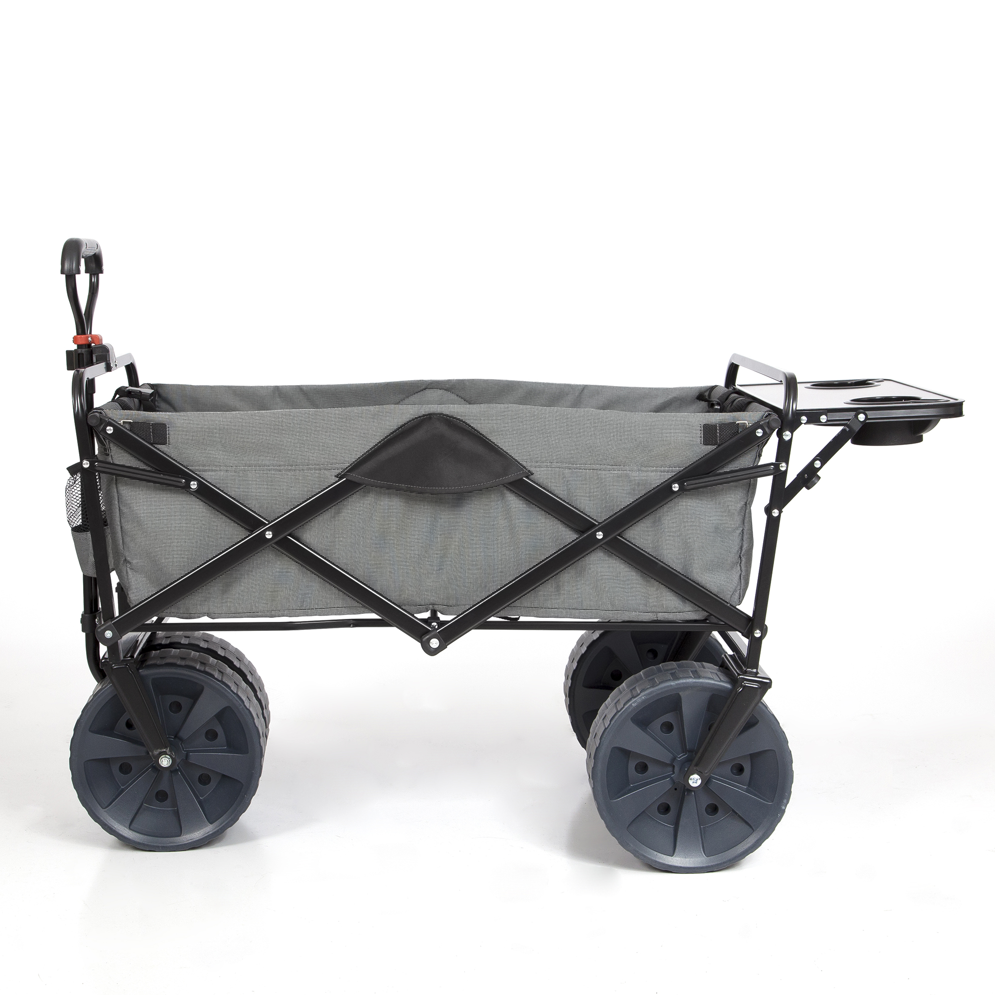 Details about Mac Sports Collapsible Heavy Duty All Terrain Utility Wagon  w/ Table, Gray