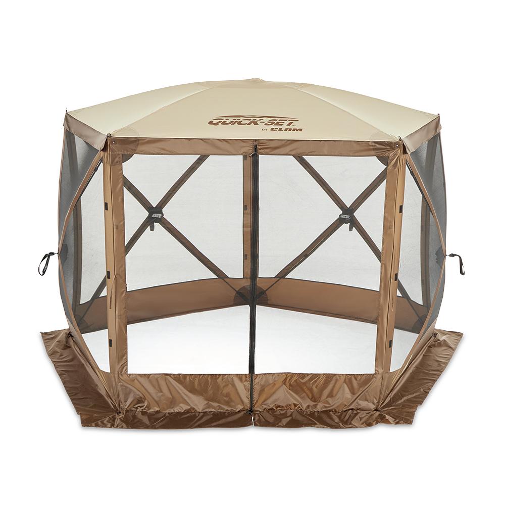 Clam QuickSet Venture Portable Camping Gazebo Canopy w ...