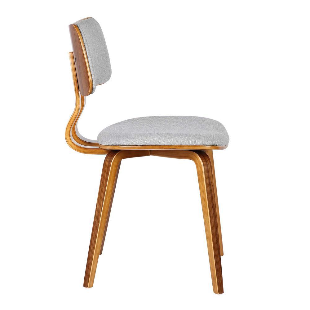Armen Living Jaguar Mid Century Walnut Wood Dining Chair ...