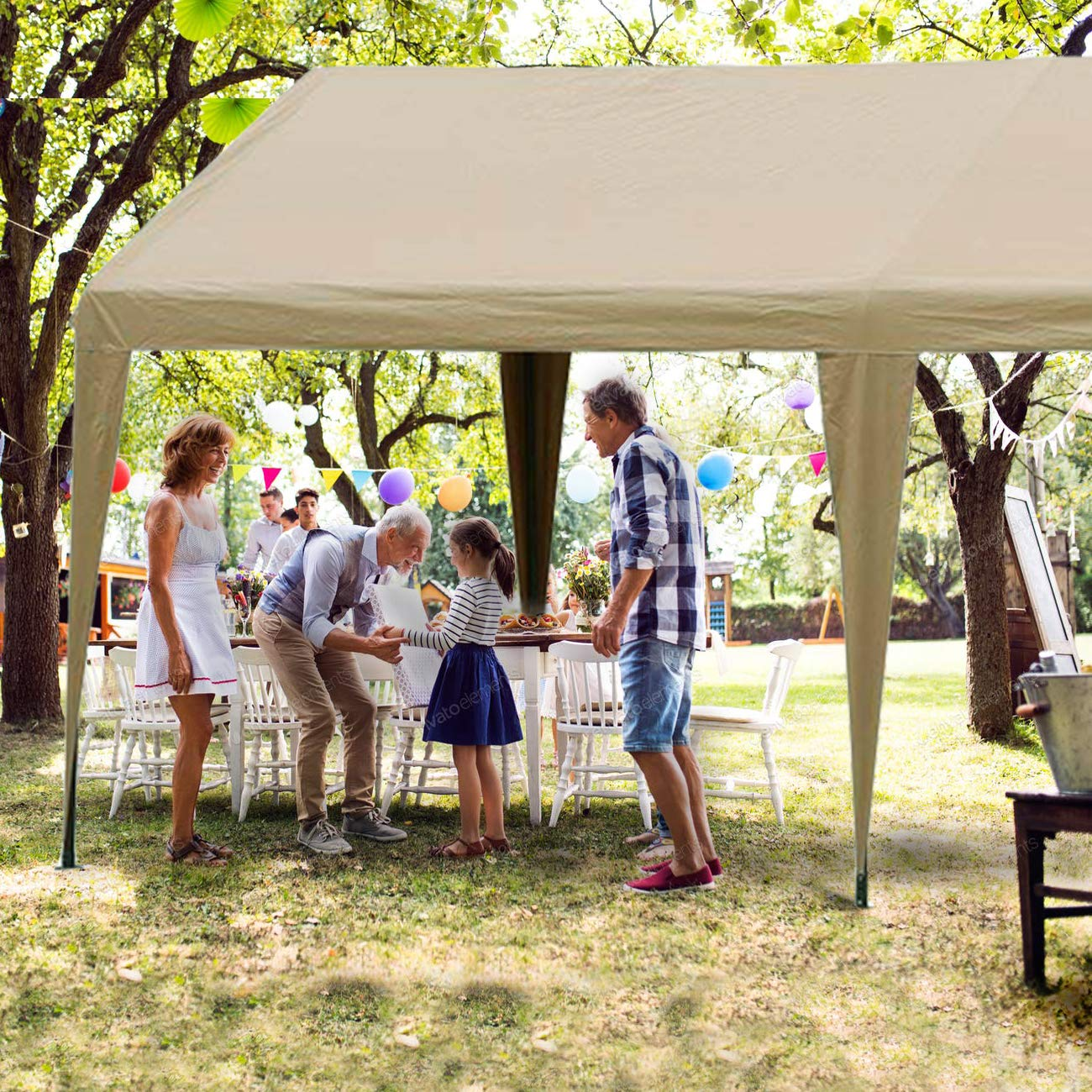 Abba Patio 10 X 20 Foot Portable Carport Canopy With 6
