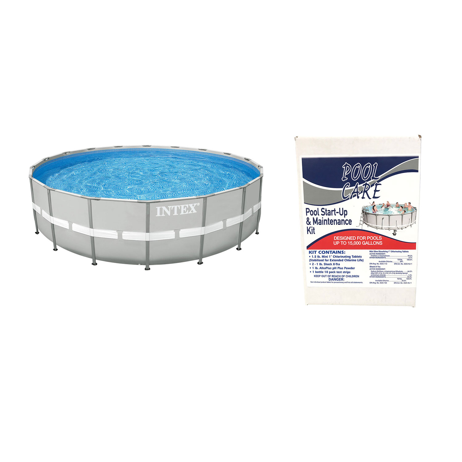 Details about Intex Ultra Frame Swimming Pool Set + Qualco Pool Chemical  Maintenance Kit