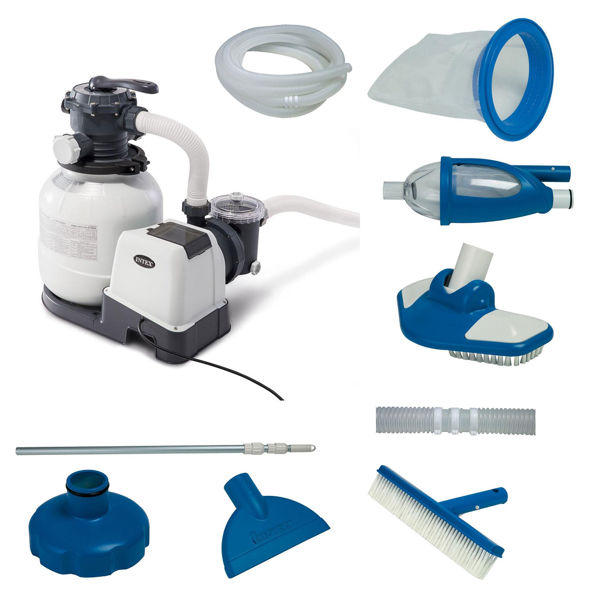 Intex 2100 Gph Above Ground Pool Sand Filter Pump W
