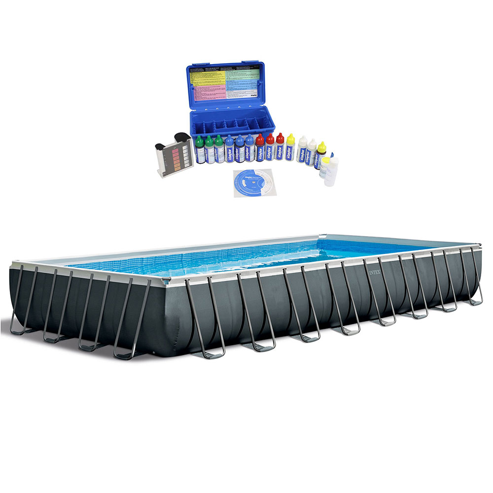 Intex 32 Foot Ultra Xtr Rectangular Swimming Pool W