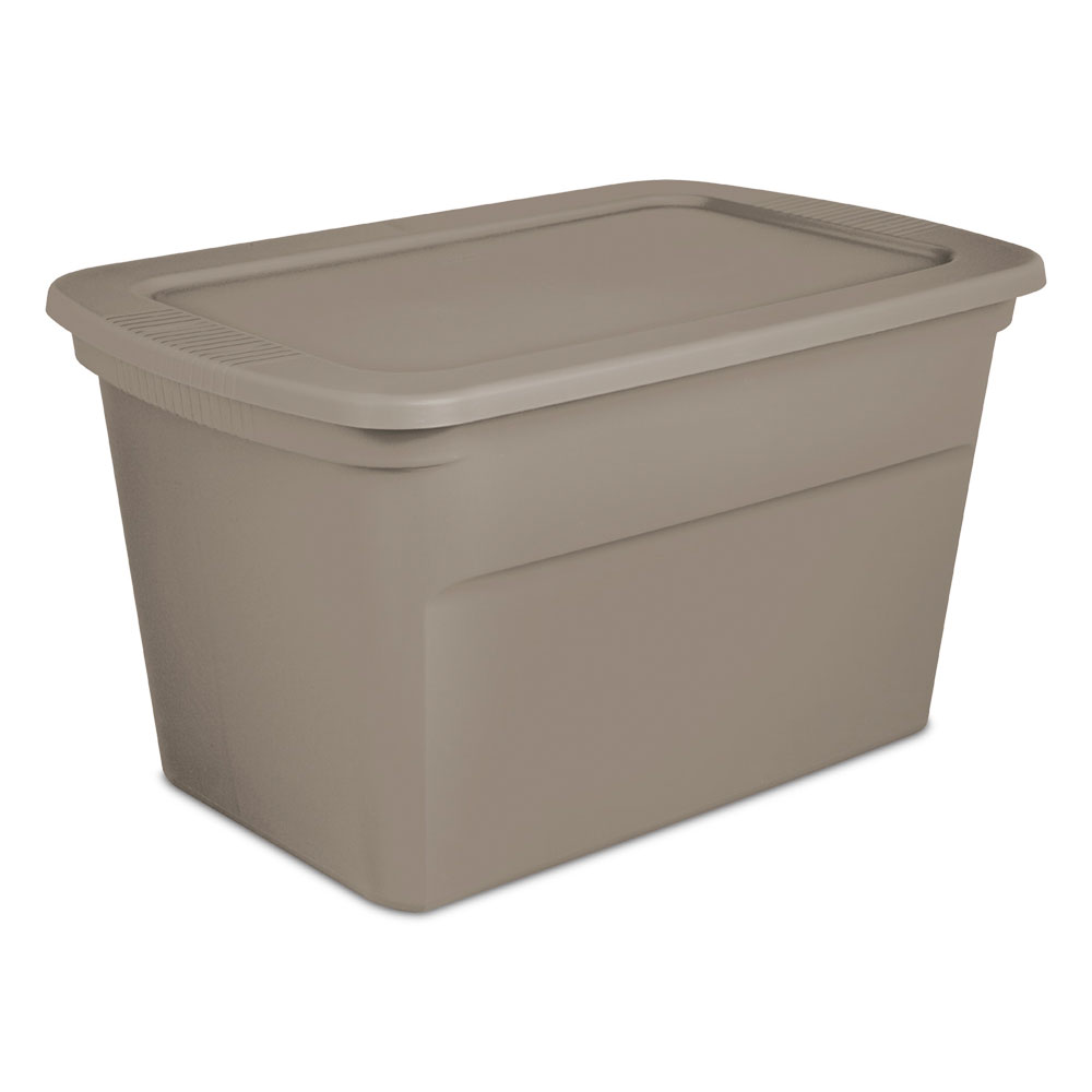Charmant Details About Sterilite 30 Gallon Plastic Stackable Storage Tote Container  Box, Taupe(30 Pack)