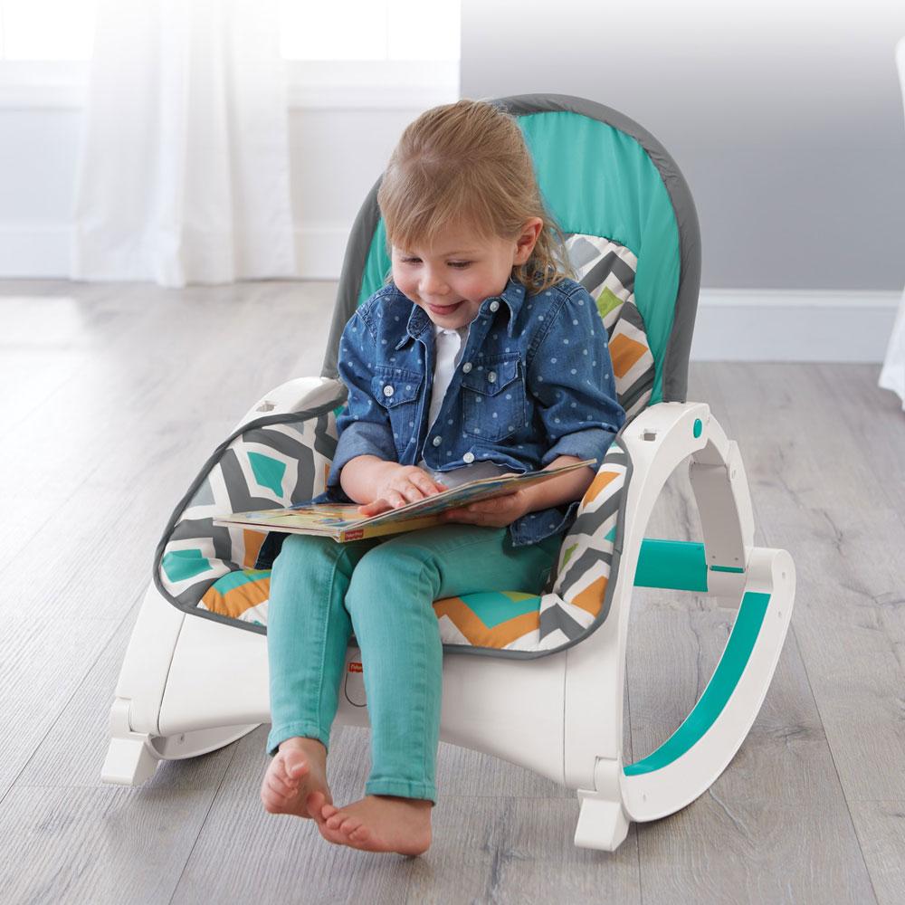 Fisher Price Cmr13 Newborn To Toddler Folding Baby Rocker