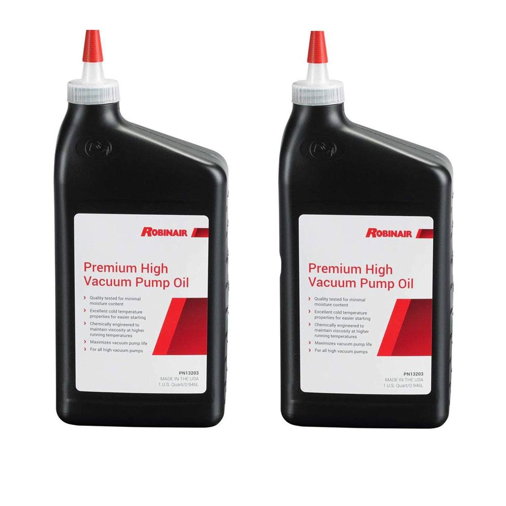 Robinair Premium High Viscosity Low Moisture Vacuum Pump Oil, Quart (2 Pack)