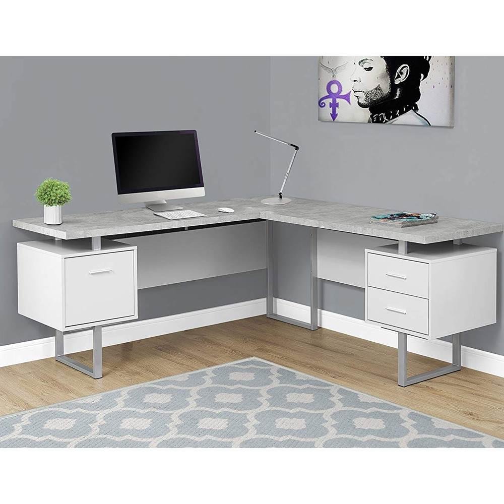 Monarch Specialties 70 Inch Office Furniture Computer Desk ...