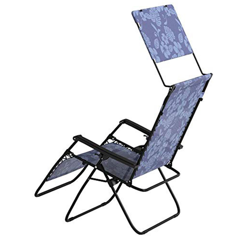 Merveilleux Details About Bliss Hammocks 33 Inch Reclining Zero Gravity Chair With  Canopy, Blue Flowers