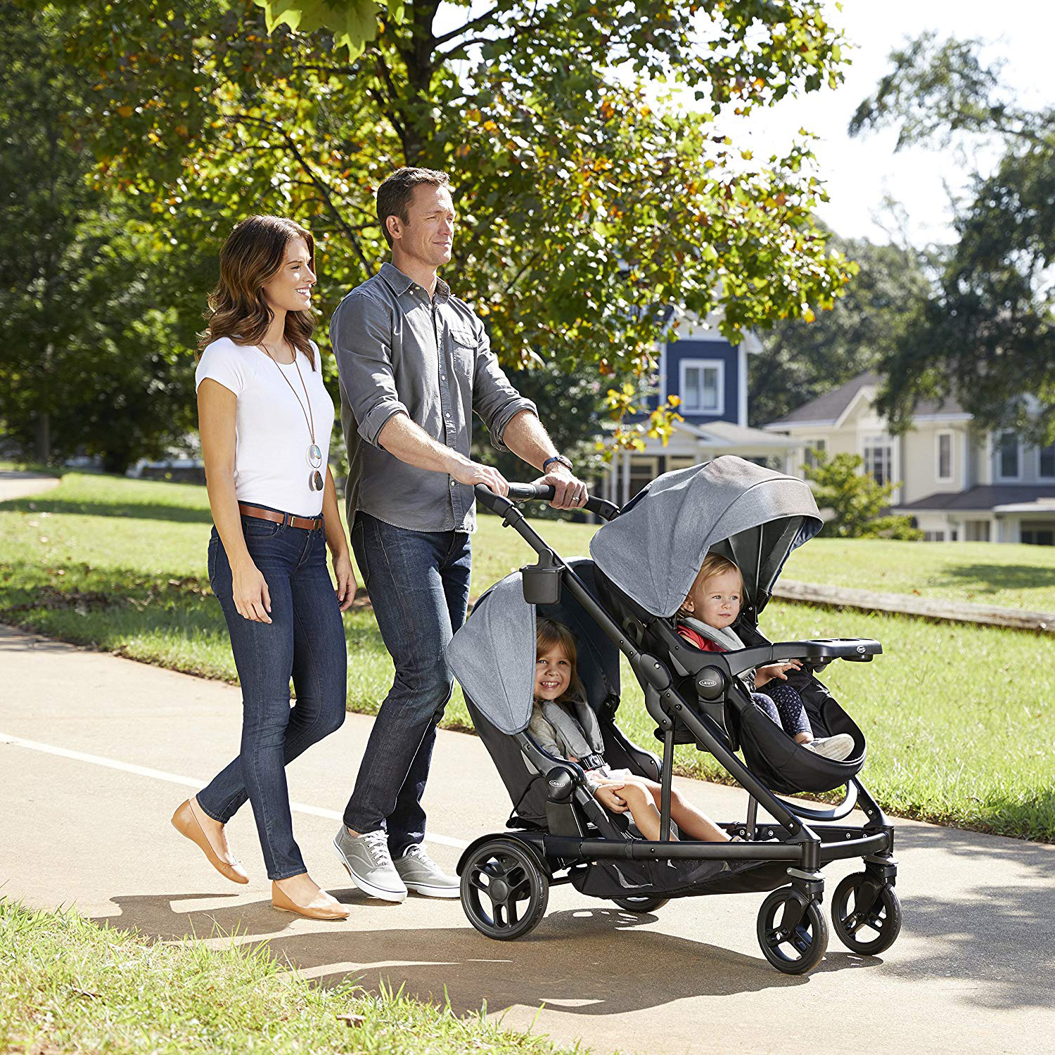 Graco Uno2Duo Single to Double Baby Toddler Convertible ...