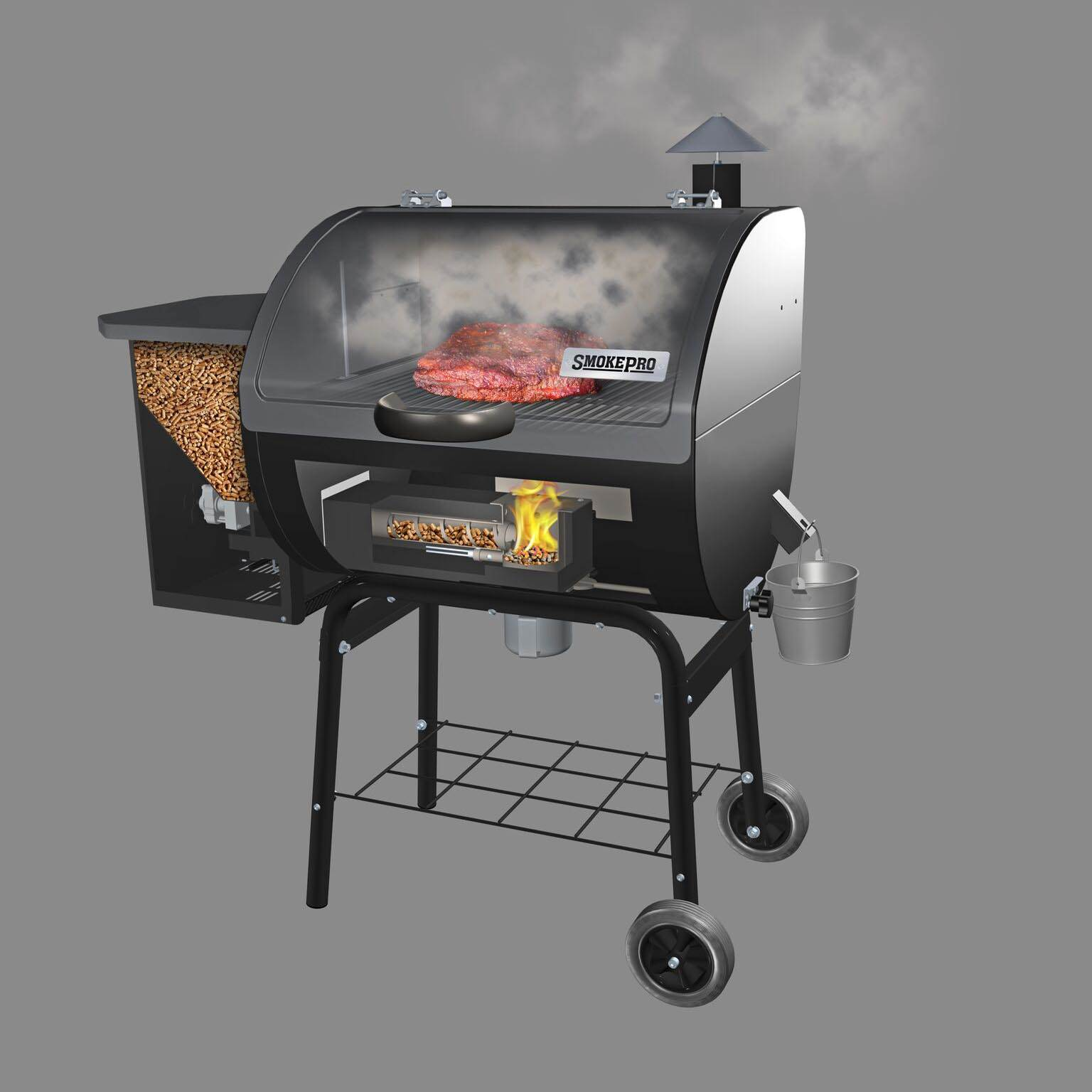 Camp Chef SmokePro STX Wood Pellet Outdoor BBQ Grill and ...