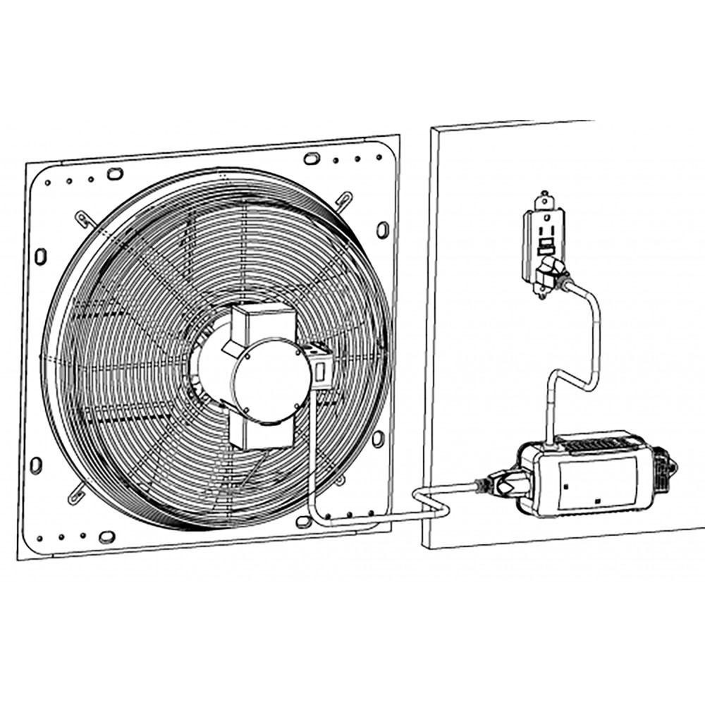 iLIVING ILG8SFRC Shutter Exhaust Fan Programmable Smart