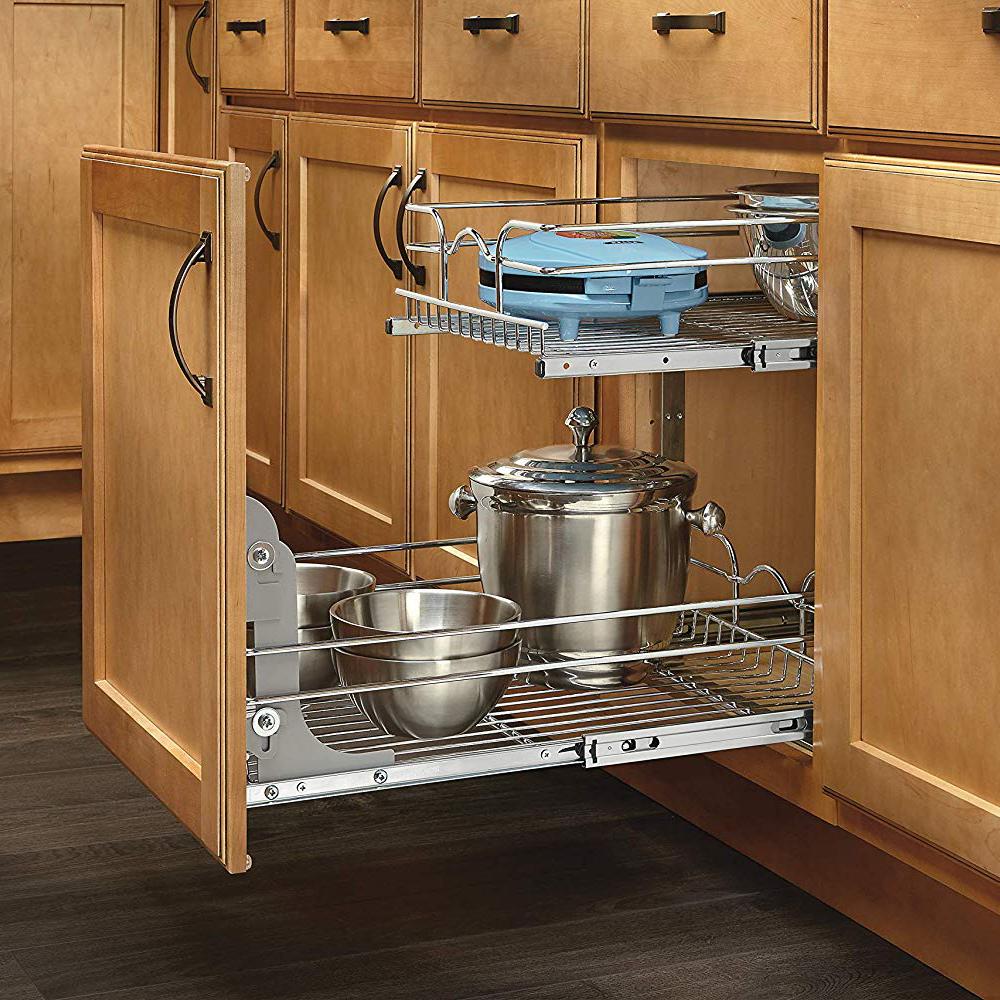 "Rev-A-Shelf 9"" Wide 18"" Deep Base Kitchen Cabinet 2 Tier ..."