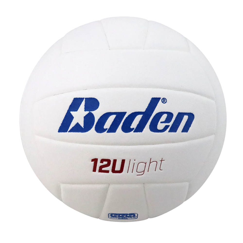 White Baden Microfiber Official Size Volleyball for Players 12/&U Red /& Blue