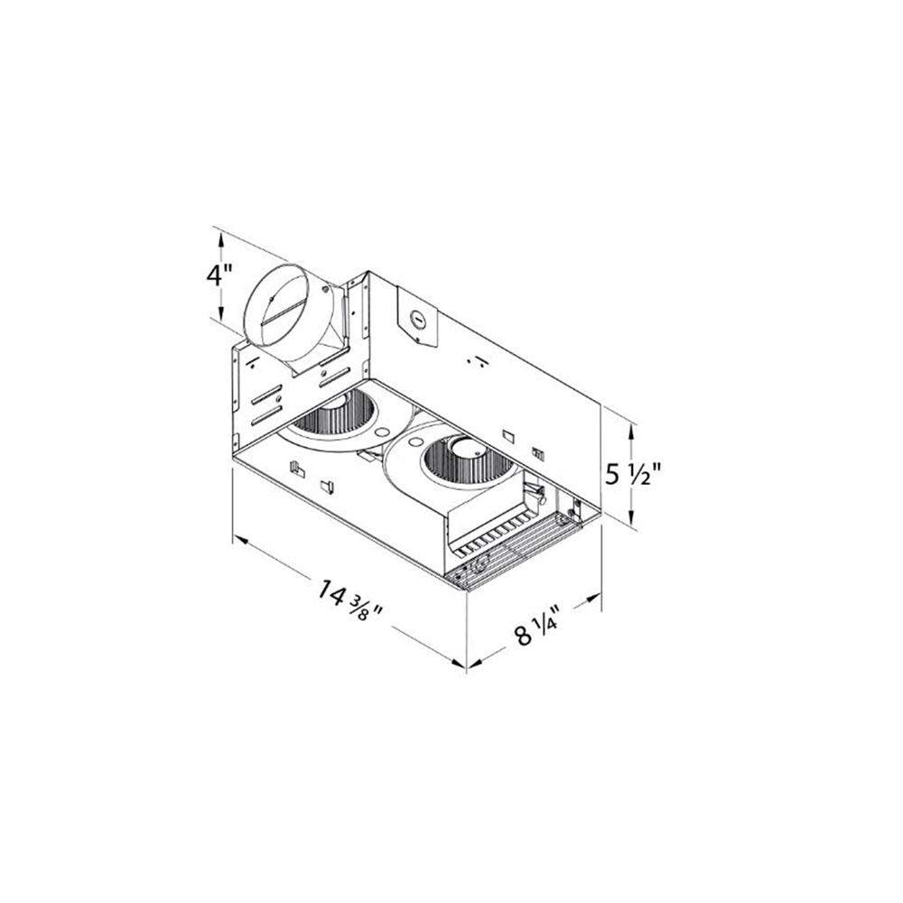 Delta Electronics BreezRadiance 80 CFM Bath Fan LED
