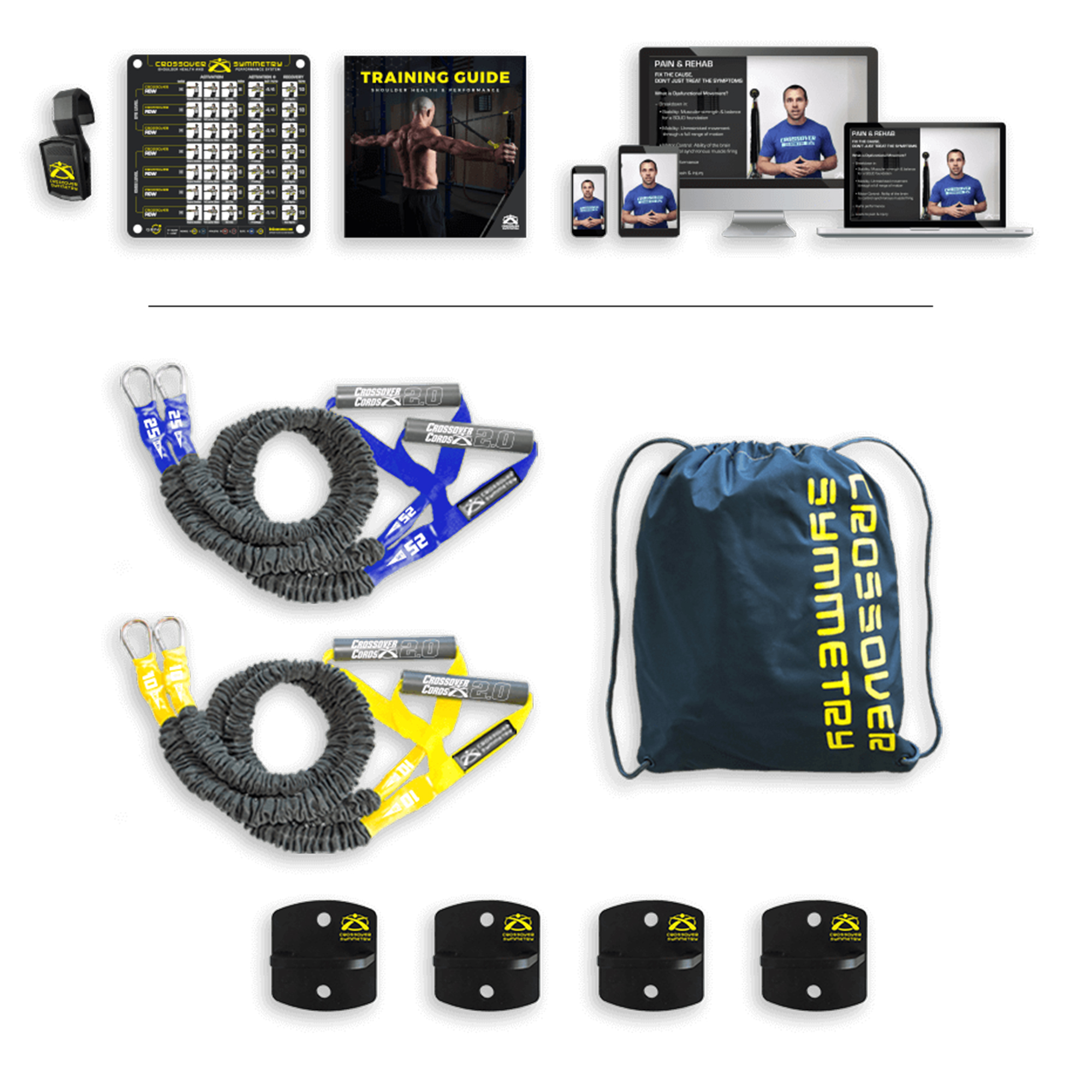 Crossover Symmetry Individual Exercise Package with Anchor Attachments Novice