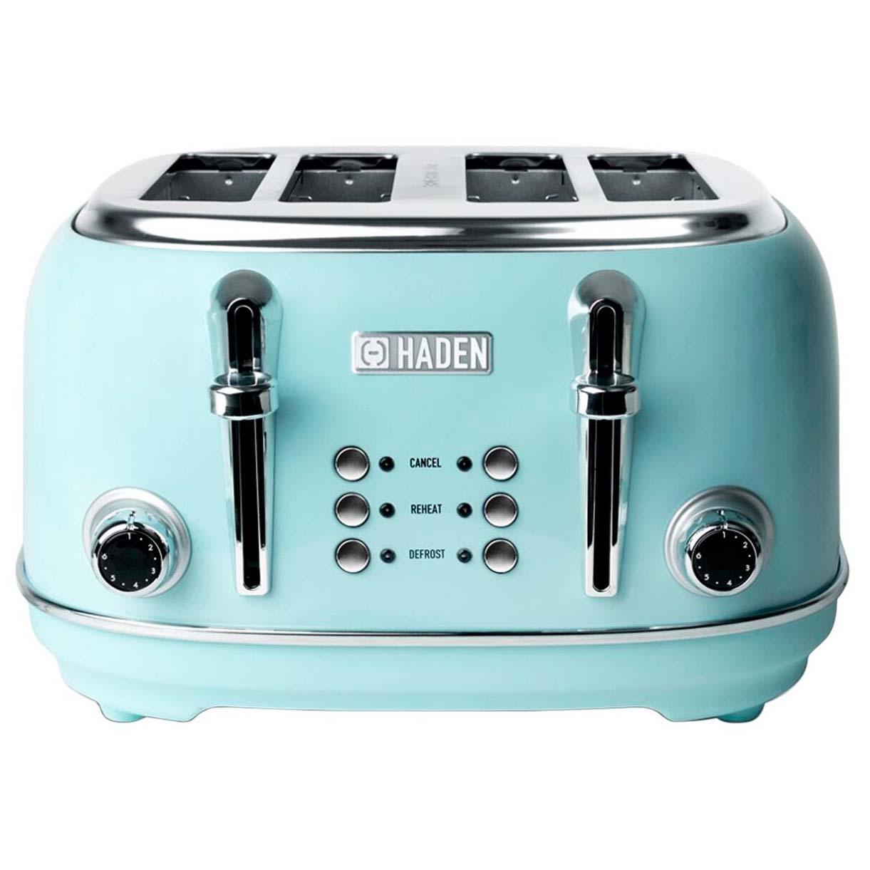 Haden Burgandy 2 Slice Toaster with wide slots