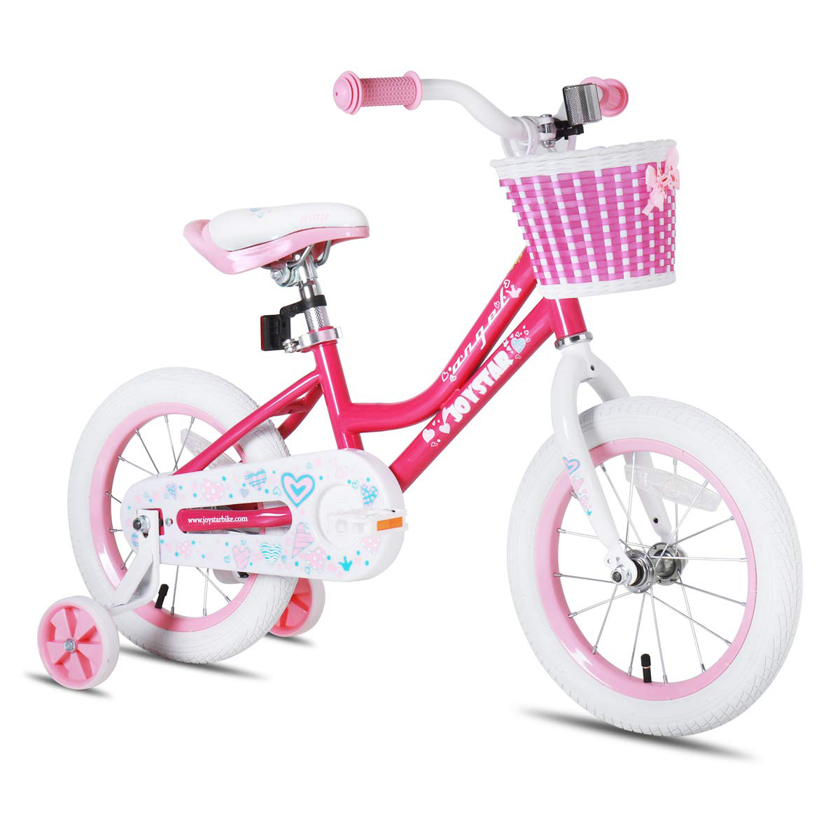 Joystar Angel 14inch Ride On Girls Kids Bike With Training Wheels Pink Plz Read For Sale Online Ebay