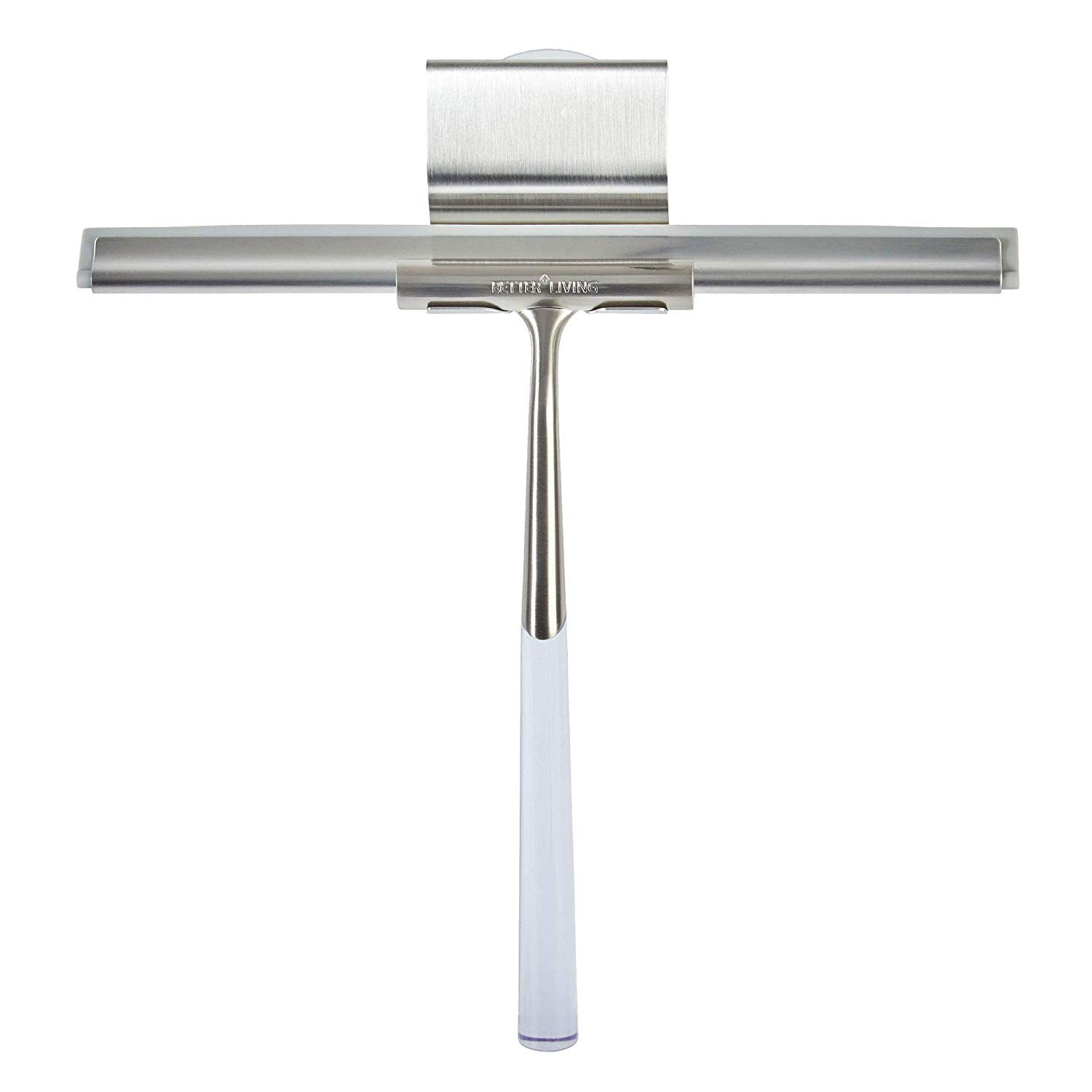 Better Living 18099 Linea Stainless Steel Shower Squeegee with Suction Hook