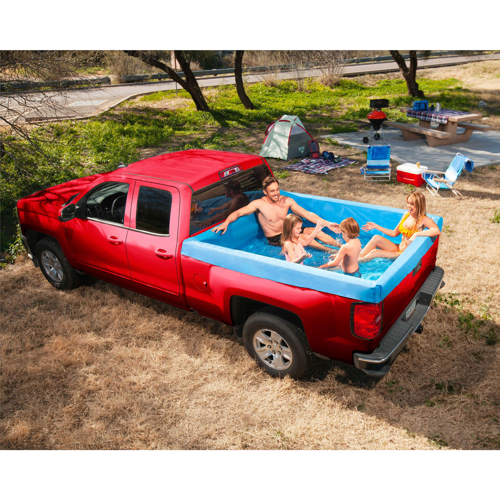 Bestway 54283e Portable Standard 5 5 Foot Payload Pickup Truck Bed Swimming Pool Ebay