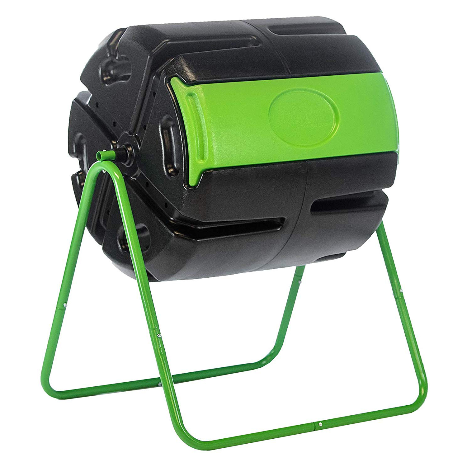 FCMP Outdoor Roto 37 Gal Plastic Rotating Tumbling Composter Compost Open Box