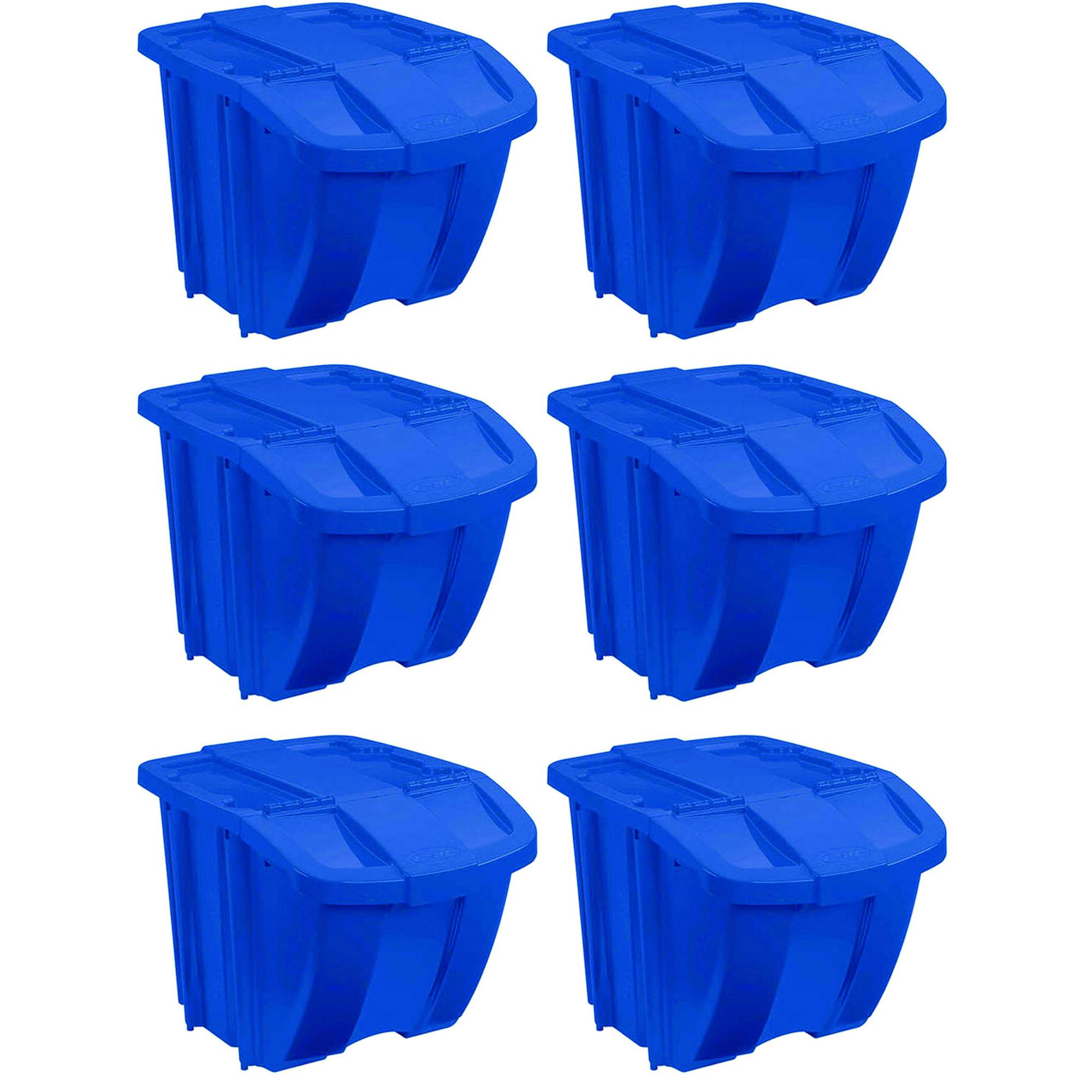 3-Piece Indoor//Outdoor Stackable Storage Organizer New Recycle Bin Set 18 Gal.