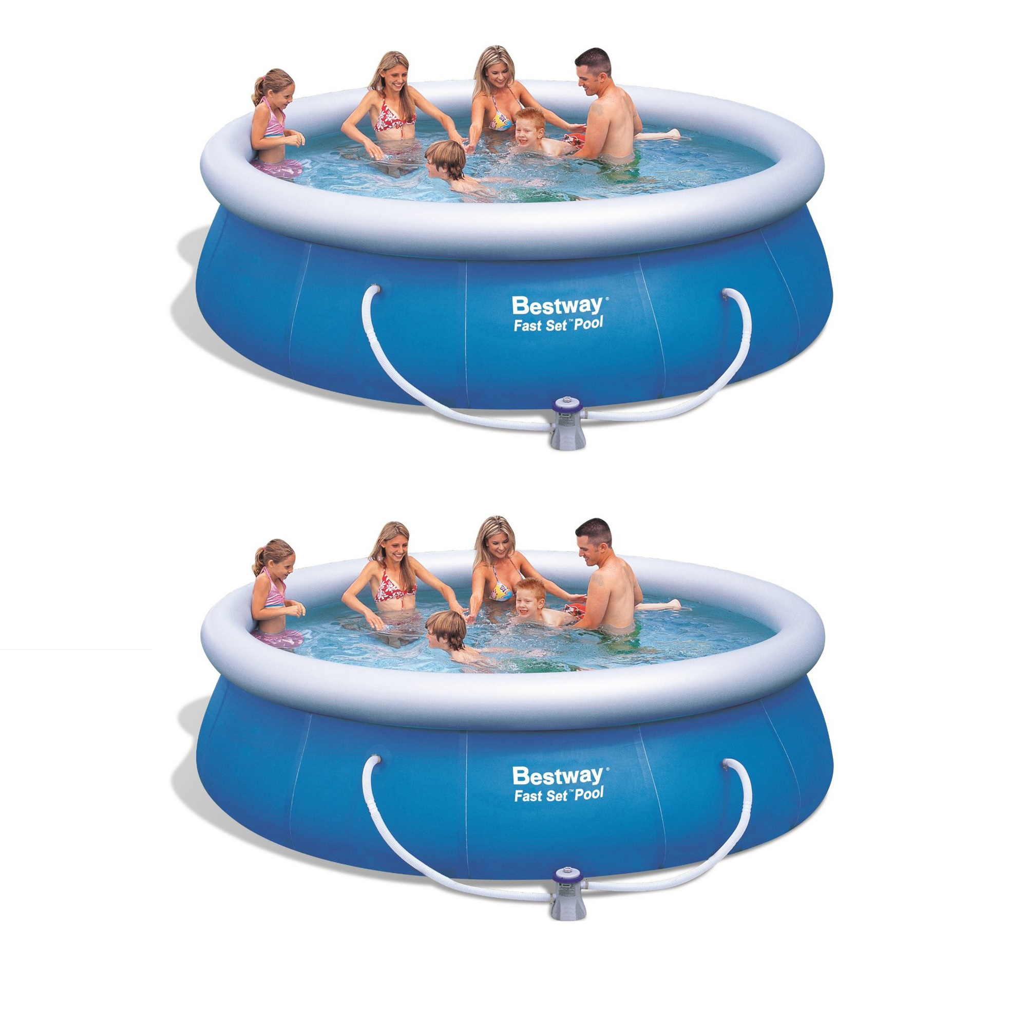 """Bestway 12/' x 36/"""" Fast Set Inflatable Above Ground Pool w// Filter Pump57278E"""
