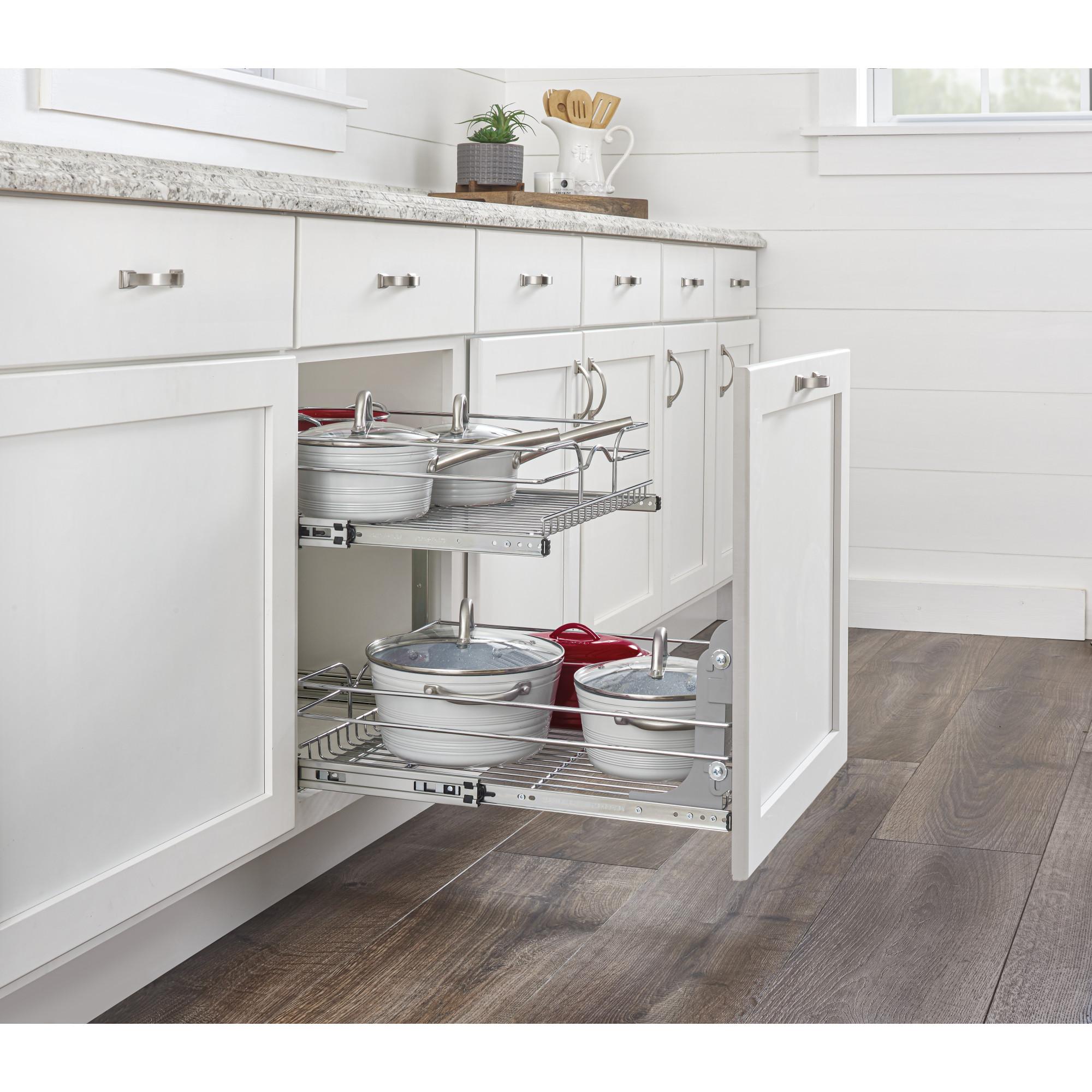 "Rev-A-Shelf 5WB2-1822CR-1 18"" x 22"" 2-Tier Cabinet Pull ..."