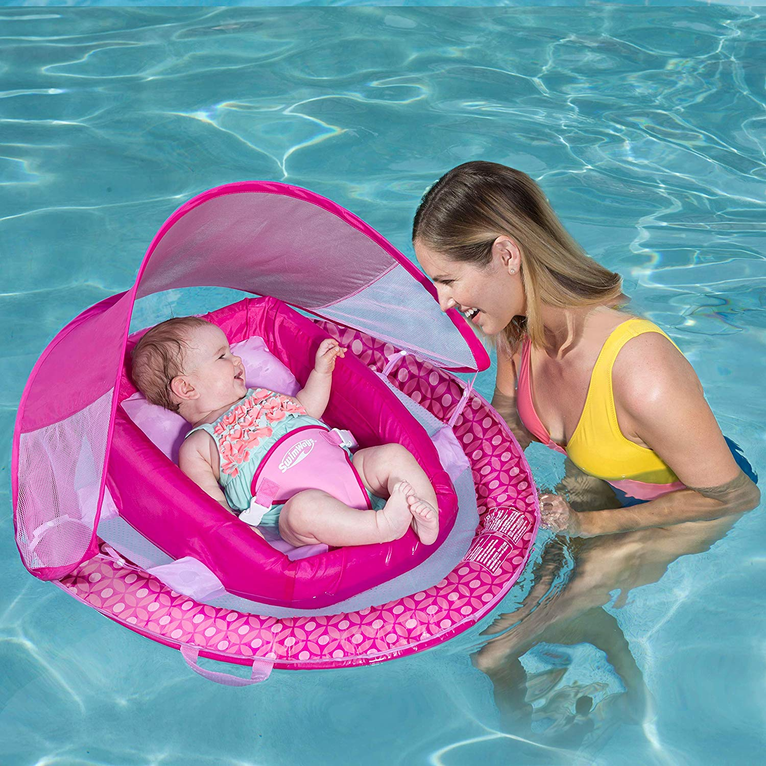 SwimWays Inflatable Spring Baby Infant Swimming Pool and ...