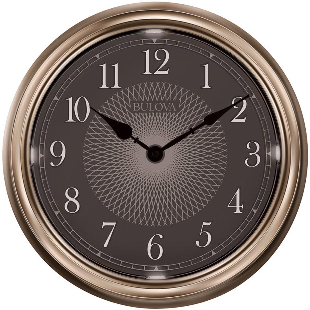 "Bulova C4813 Weather Master Wall Clock 18/"" Bronze Finish"