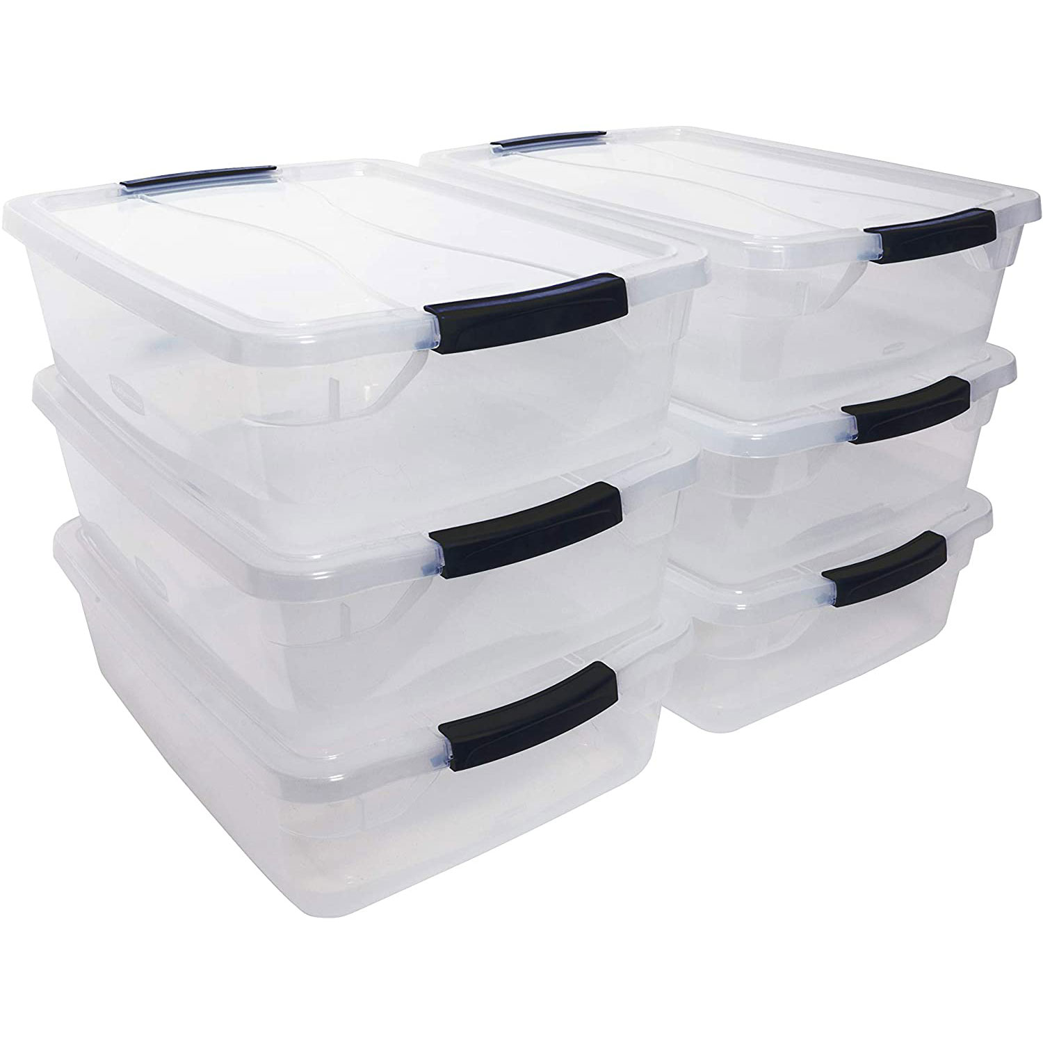 Plastic Pack of 2 6 Quart Capacity, Choice Food Storage Containers with Lids