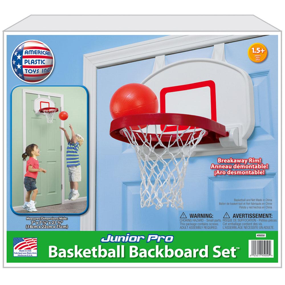 US Kids Basketball Hoop Indoor Plastic Backboard Box Mini Basket Board Play Game