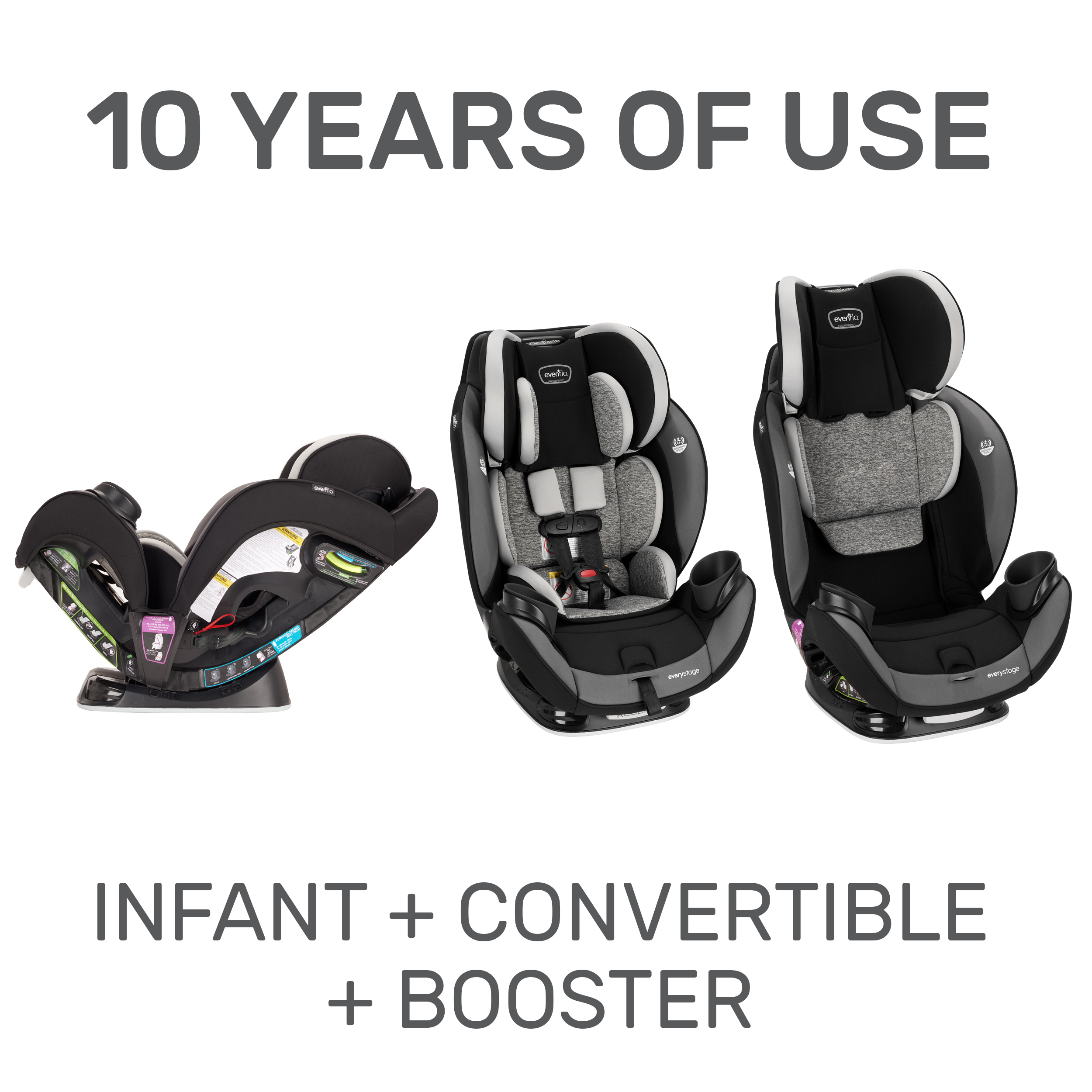 Evenflo EveryStage DLX All-in-One Kids Rear Facing ...
