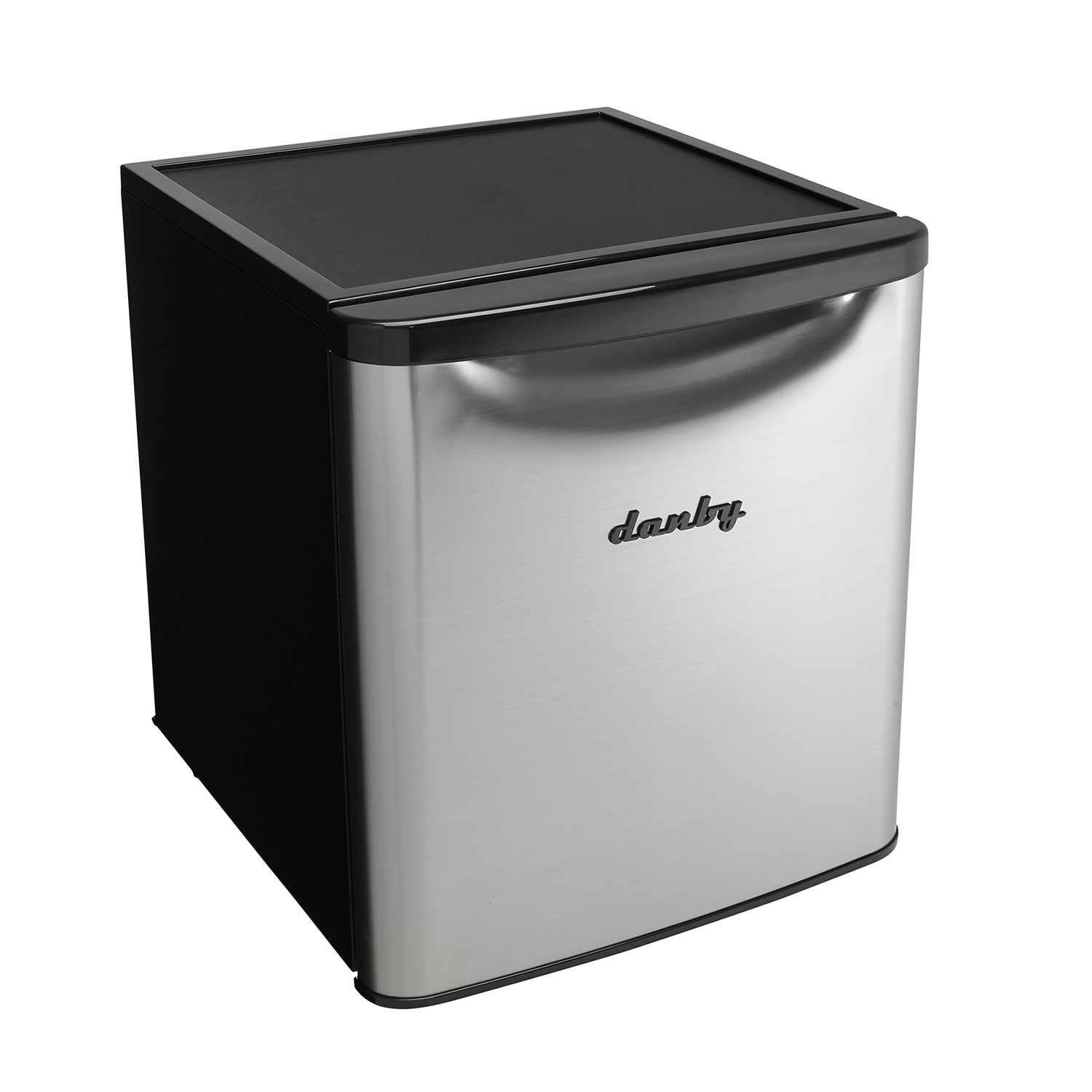 Danby-1-7-Cubic-Foot-Contemporary-Classic-Compact-Refrigerator-Stainless-Finish thumbnail 2