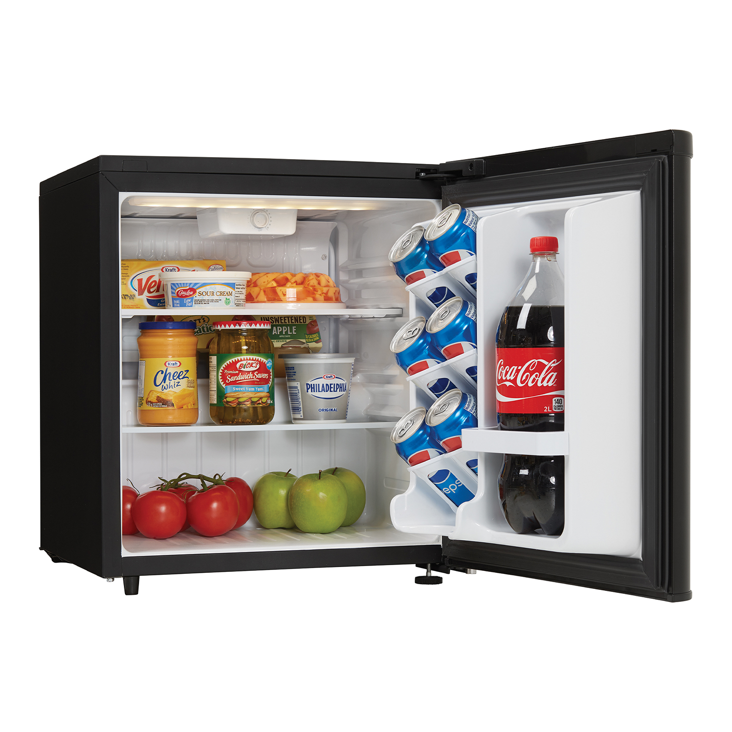 Danby-1-7-Cubic-Foot-Contemporary-Classic-Compact-Refrigerator-Stainless-Finish thumbnail 4