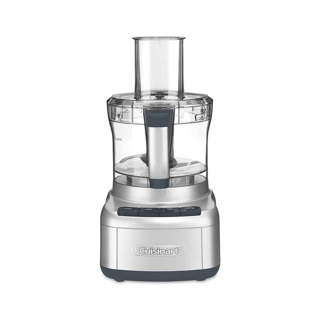 elemental 8 cup chopper food processor silver