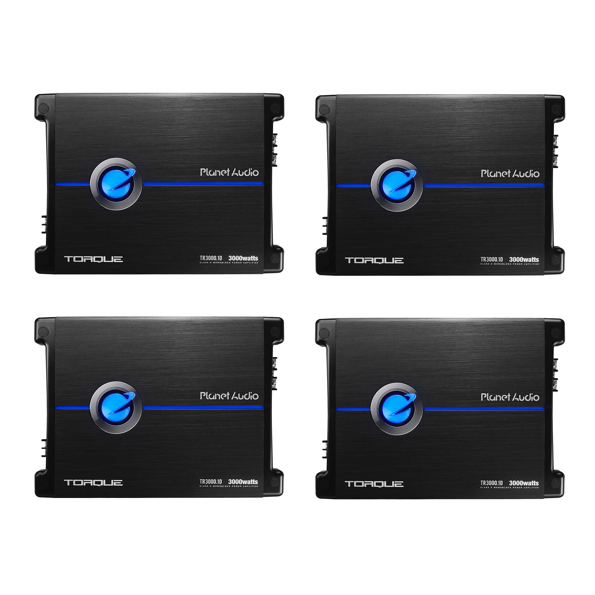 Planet Audio TR3000.1D Torque 3000 Watt 1 Ohm Stable Class D Monoblock Car Amplifier with Remote Subwoofer Control