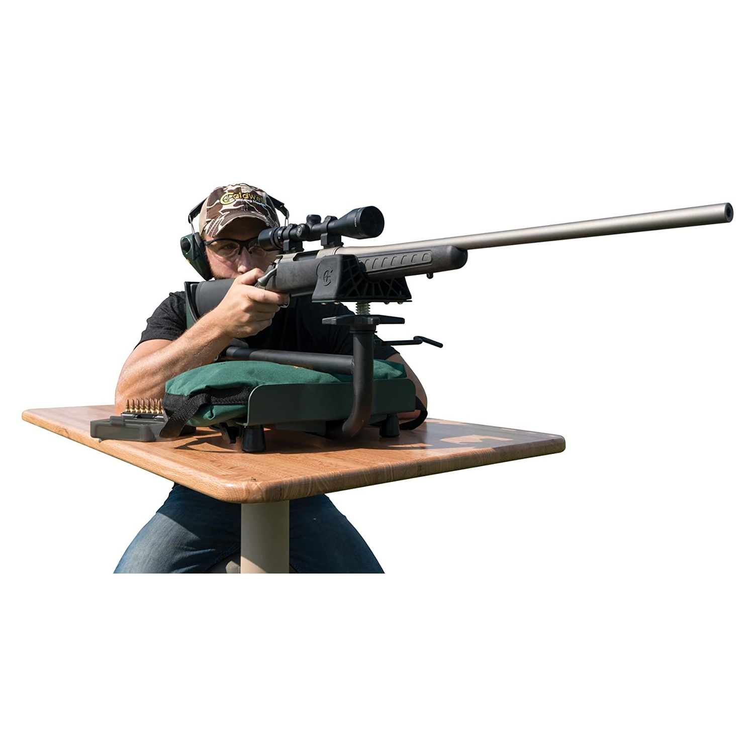 New Lead Sled 3 Adjustable Ambidextrous Recoil Reducing Rifle Shooting Rest for Outdoor Range
