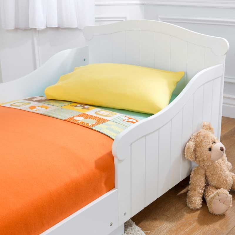 KidKraft White Wood Baby/Toddler/Kids Transition Bed and ...