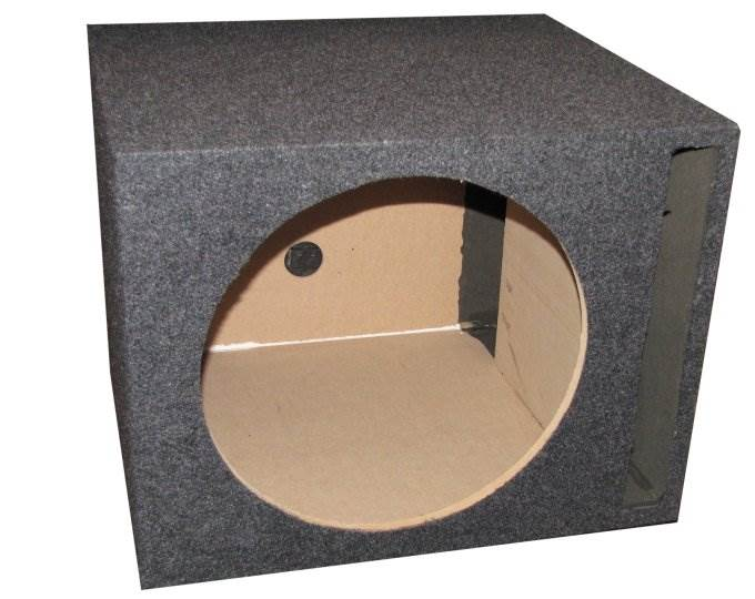 NEW Q-Power 15/' Single Empty Vented Ported Car Audio Subwoofer Sub Box Enclosure