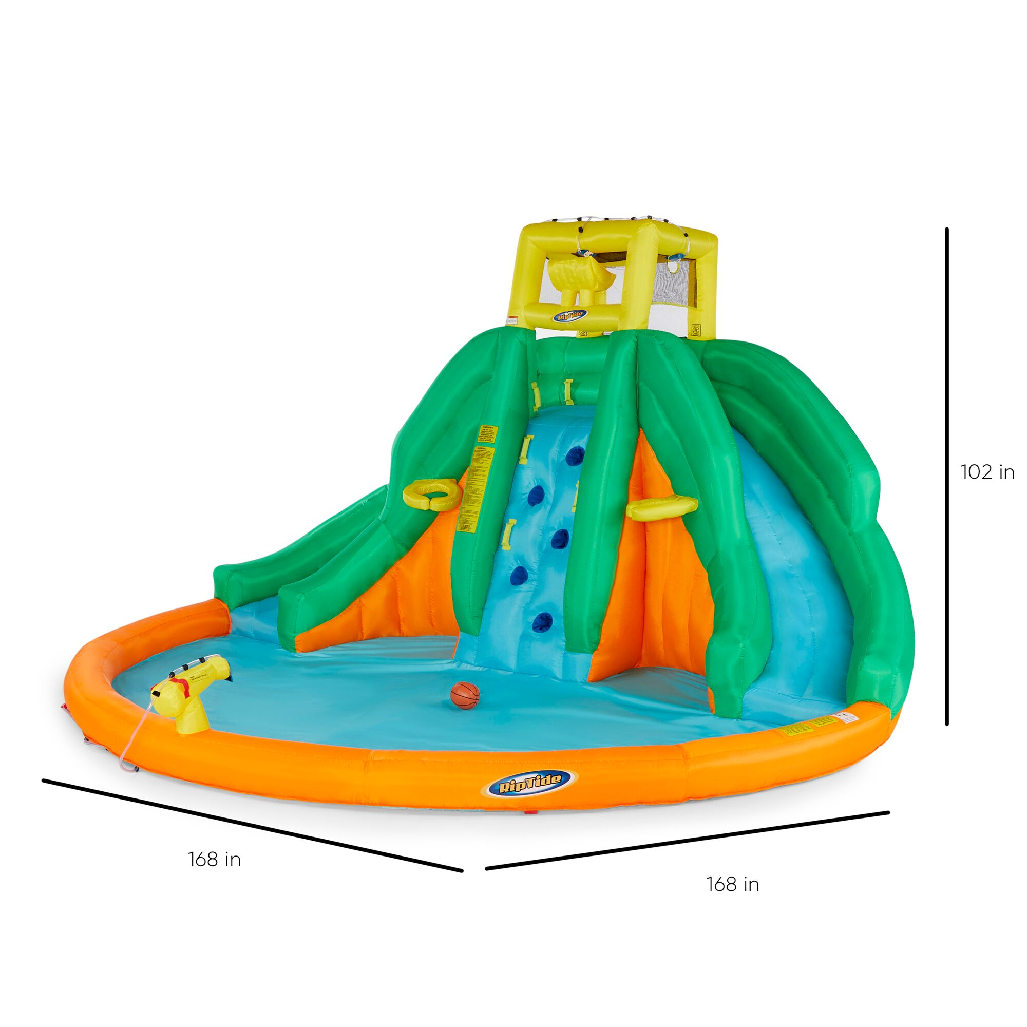 Kahuna 90475 Twin Peaks Kids Inflatable Splash Pool ...