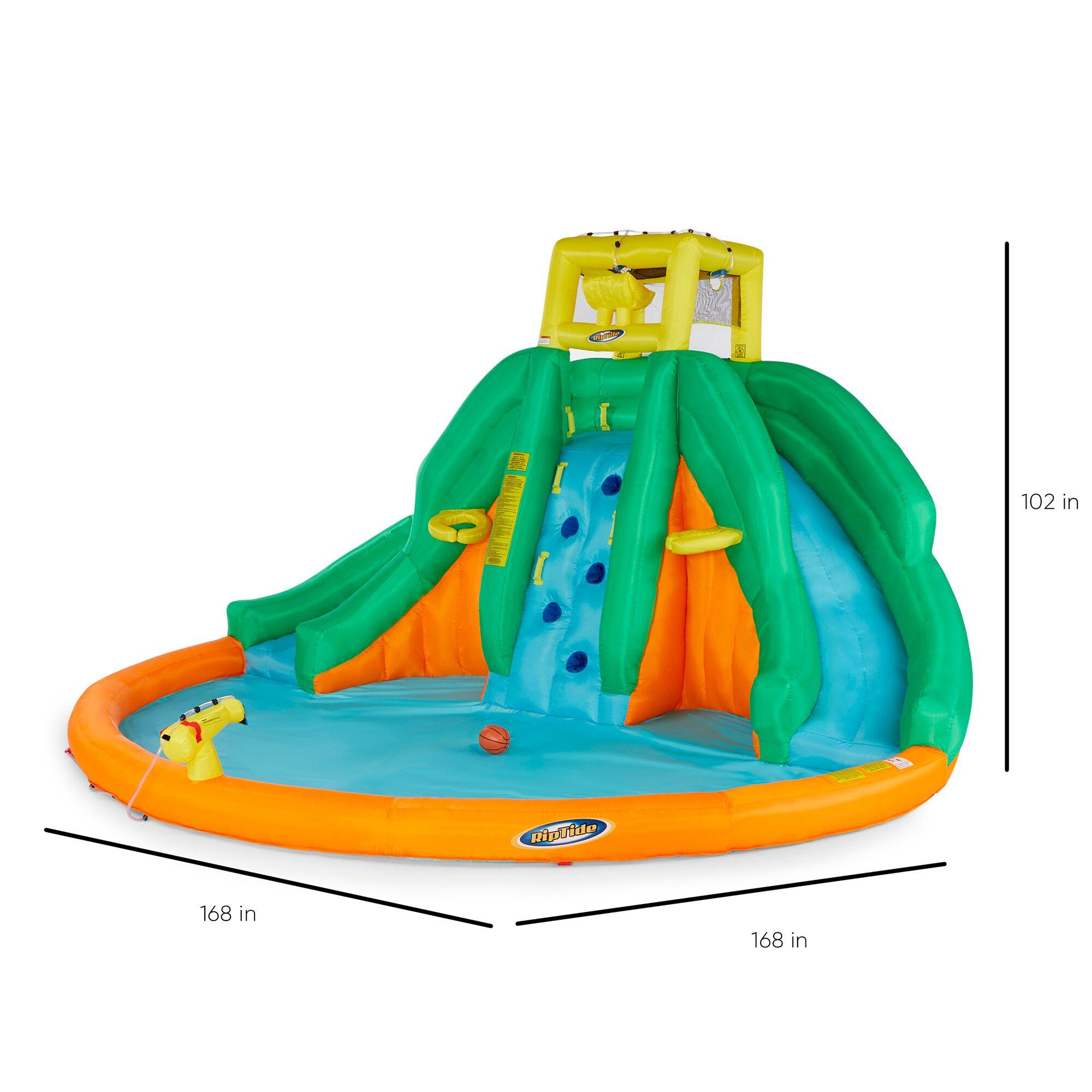 Kahuna Twin Peaks Kids Inflatable Pool Backyard Water ...