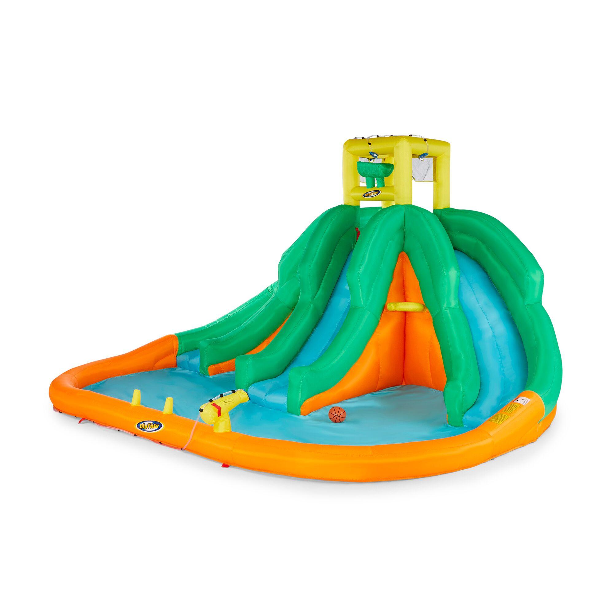 Kahuna Triple Monster Big Inflatable Backyard Kiddie Slide ...