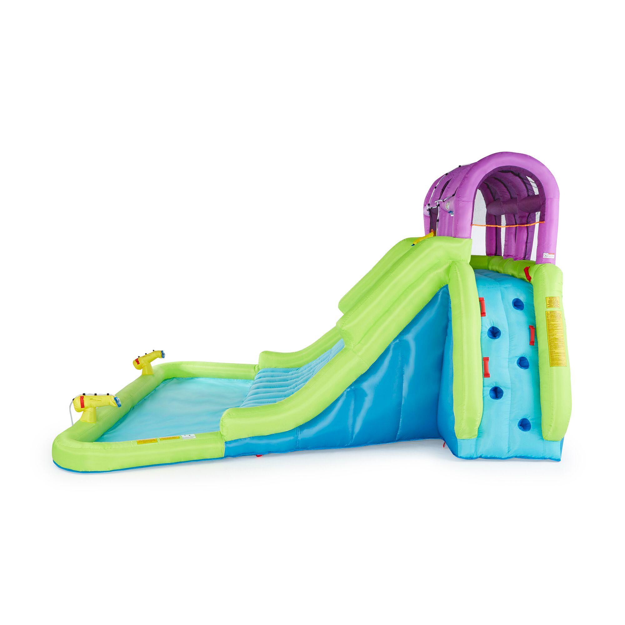 Kahuna Mega Blast Inflatable Backyard Kids Pool and Slide ...
