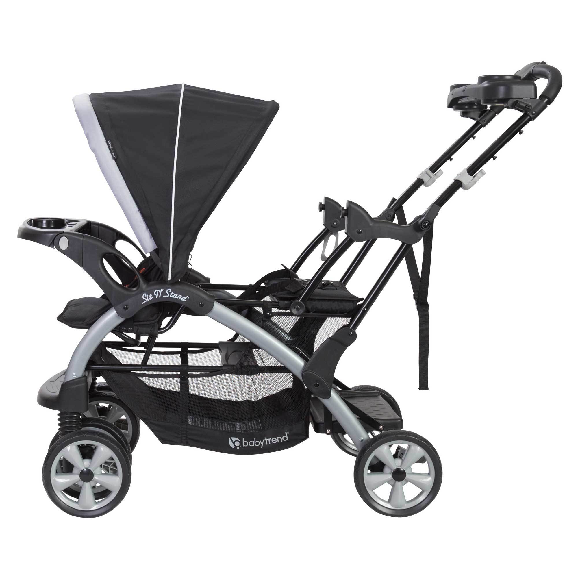 Baby Trend Sit-N-Stand Twin Tandem 2-Seat Double Stroller ...