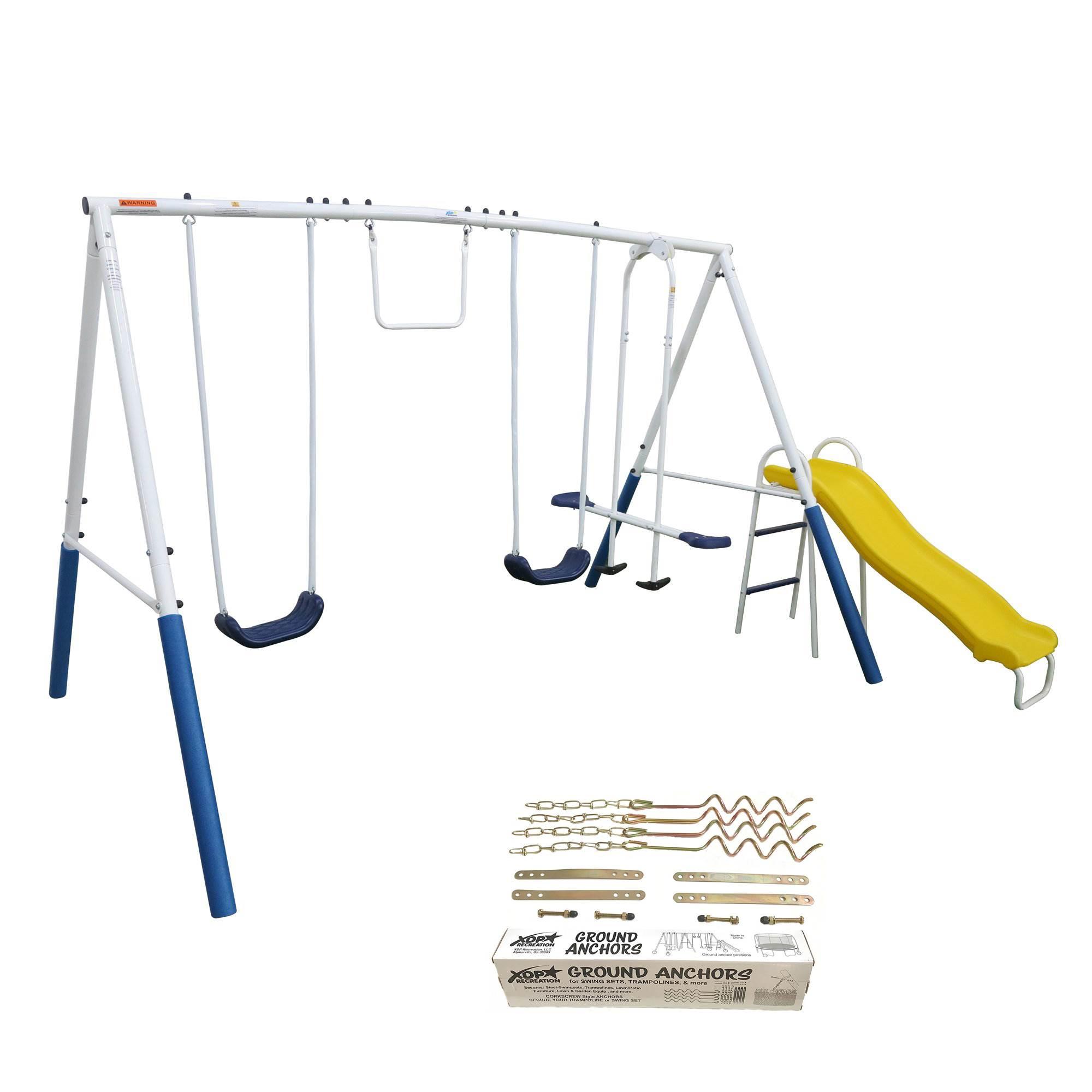 XDP Recreation Blue Ridge Outdoor Backyard Kids Swing Set ...